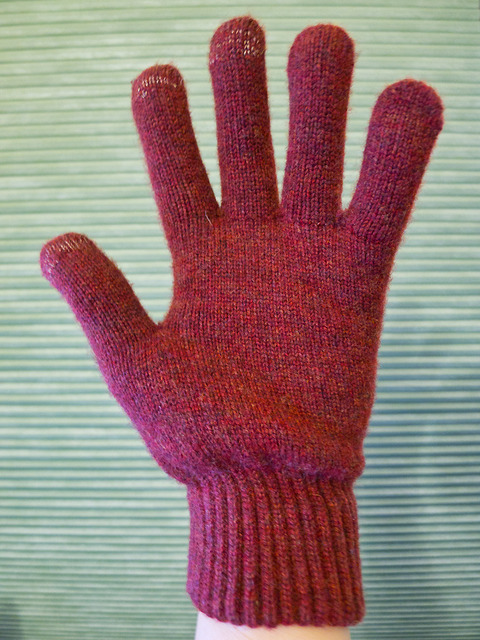 Dots Gloves Brick - Palm