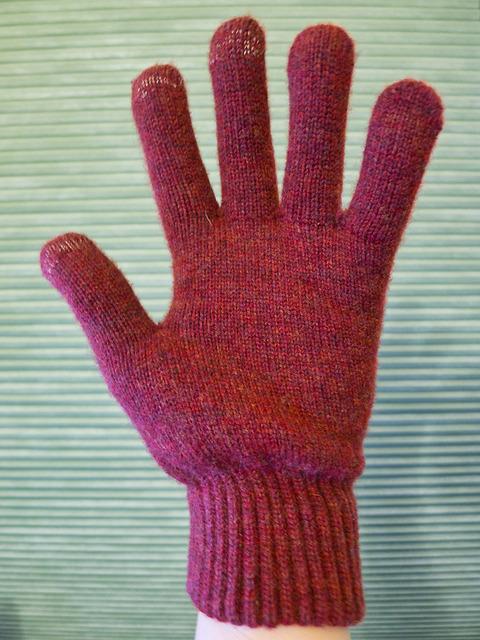 Dots Gloves Brick - Palm