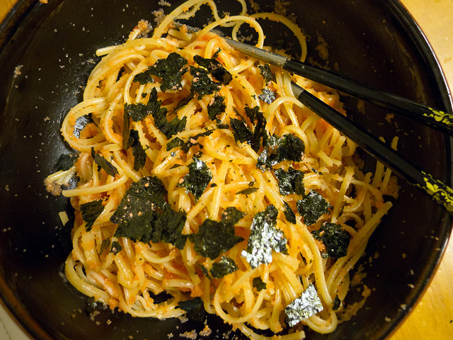 Simple Tarako Spaghetti