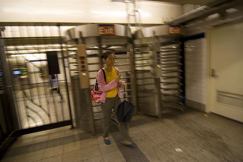 Entering Subway Station