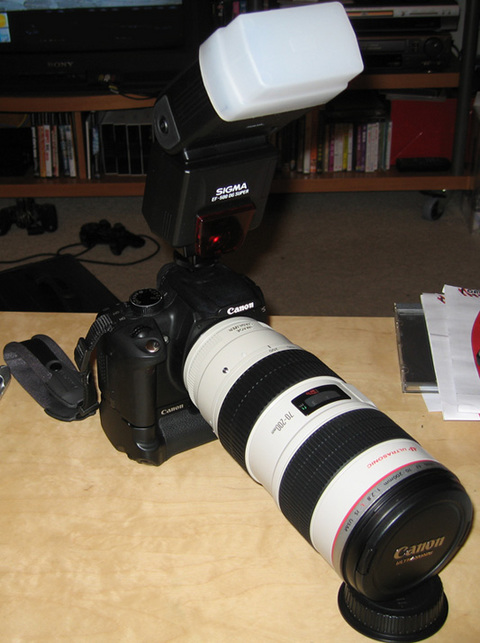 Canon 70-200 IS Side View