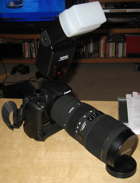 Sigma 70-200 Side View
