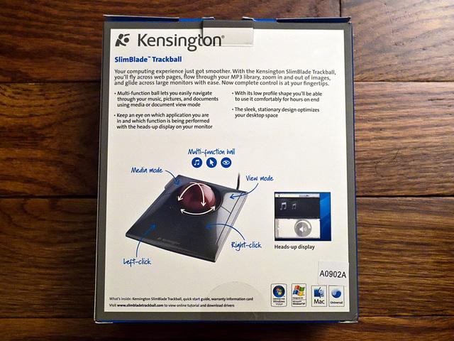 Slimblade Trackball Box - Back