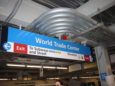 WTC Station Sign